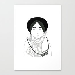 Girl with camera. Canvas Print