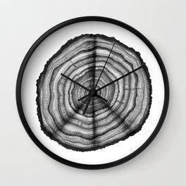 Tree Rings of Peace Wall Clock