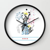 politics Wall Clocks featuring Chicago Politics by AMP-CRAYON