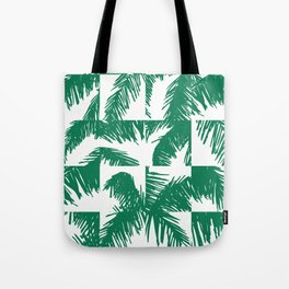 Palm Leaf Pattern Green Tote Bag