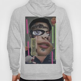 Strong Arms  - Vintage Collage Hoody