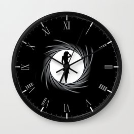Girl In The Sights Wall Clock