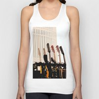 cleveland Tank Tops featuring Guitars Cleveland DownTown by Dawn Marie