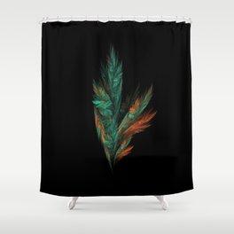 flora green fractal Shower Curtain