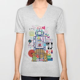we live in a beautiful world Unisex V-Neck
