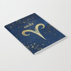 Aries Zodiac Sign Notebook