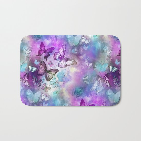 Butterflies Dreaming Bath Mat