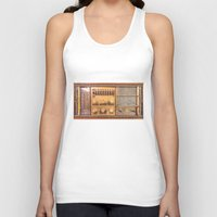 transistor Tank Tops featuring Vintage Wall Radio by jculver