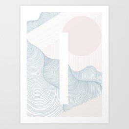 Shine in the dark Art Print