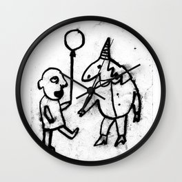 birthday party for the unicorn!@#$<3 Wall Clock