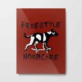 Skating Dog Freestyle Normcore Metal Print