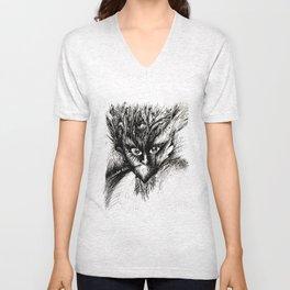 Owl Girl Eyes Unisex V-Neck