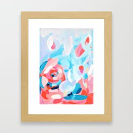 Abstract Floral Painting Framed Art Print