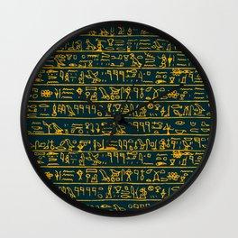 Egyptian hieroglyphs Wall Clock