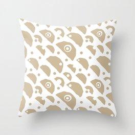 Beige strange things big case. Seamless pattern Throw Pillow