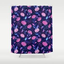 Tropical Midnight with Hoya Blossoms Shower Curtain