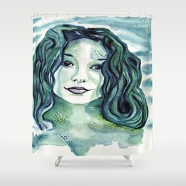 Maybe I'm A Mermaid (Tori Amos inspired art) Shower Curtain