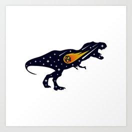 Dinosaur and meteorite strike #society6 #decor #buyart #artprint Art Print