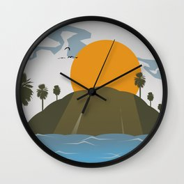 Tropic storm is coming Wall Clock