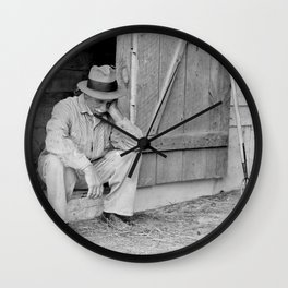 Farmer in Despair Over the Depression in 1932 Wall Clock