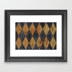 Wood cut abstraction Framed Art Print