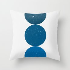 blue i 001 Throw Pillow