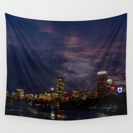 Boston at night Wall Tapestry