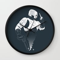 robocop Wall Clocks featuring Robocop by Alain Bossuyt