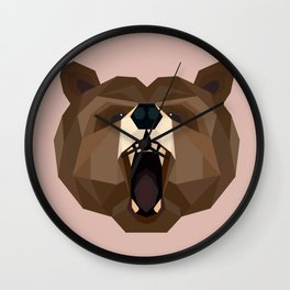 B is for Bear Wall Clock