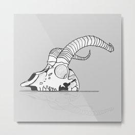 Skull of goat Metal Print