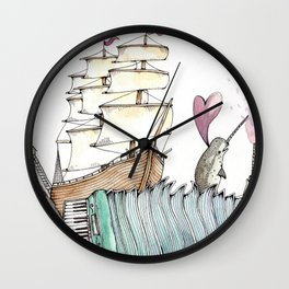 Accordion Sea Wall Clock