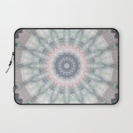 Sage Blue Grey Soft Mandala Laptop Sleeve