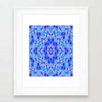 snowflake Framed Art Prints featuring Snowflake by Kimberly McGuiness