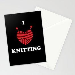 Knitting Wool I Love Knitting Stationery Cards