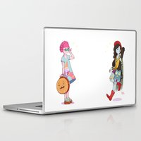 marceline Laptop & iPad Skins featuring Bubblegum and Marceline by Judith Chamizo