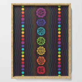 Rainbow Chakras Serving Tray