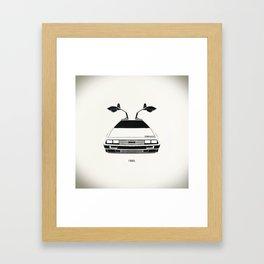 Delorean DMC 12 / Time machine / 1985 Framed Art Print