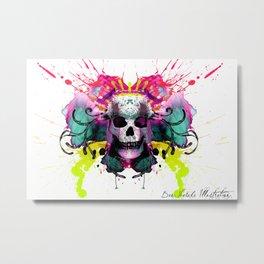 Skull and Colour Metal Print