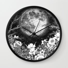 Midnight in the Garden Wall Clock