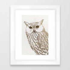 The Intellectual Owl Framed Art Print