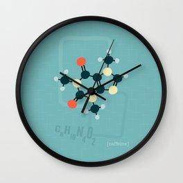 Caffeine molecule 1950s style print Wall Clock