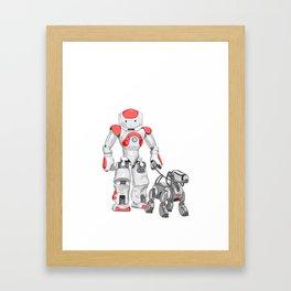 The Dog Walker. (Red) Framed Art Print