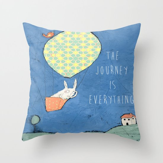 The Journey is Everything Throw Pillow