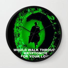 KRYPTONITE LOVE Wall Clock