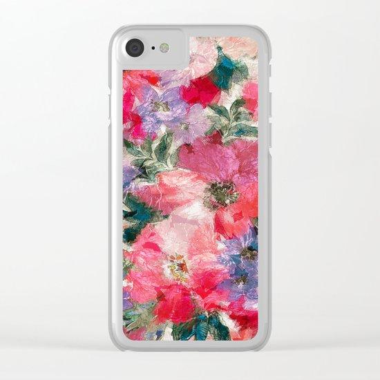 Splendid Flowers 2 Clear iPhone Case