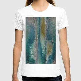 Industrial Wings in Teal T-shirt