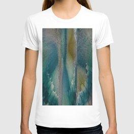 Industrial Wings in Teal T-shirt