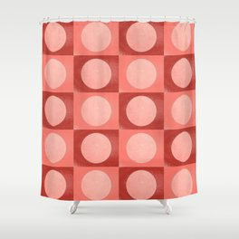 New York Moon Minimalism Living Coral Jester Shower Curtain