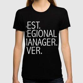Best Regional Manager Ever Career Graduation T-shirt