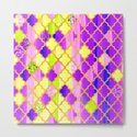 Moroccan Tile Pattern In Purple And Yellow by ekaterinac